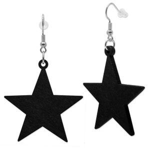 1 Paar Stern Ohrringe aus Holz – Bild 3