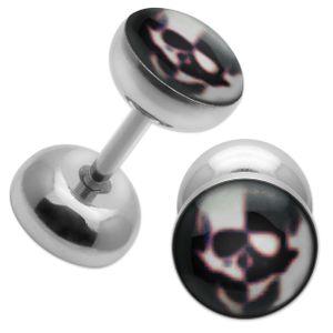 1 Paar Fake Plugs aus Edelstahl – Bild 4