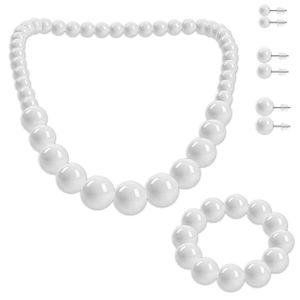 SET Perlenkette + Perlenarmband + 3 Ohrstecker  – Bild 7