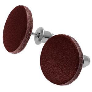1 Paar Ohrstecker aus Echt Leder – Bild 5