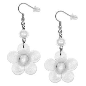 1 Paar Echt Leder Ohrringe Blumen – Bild 5