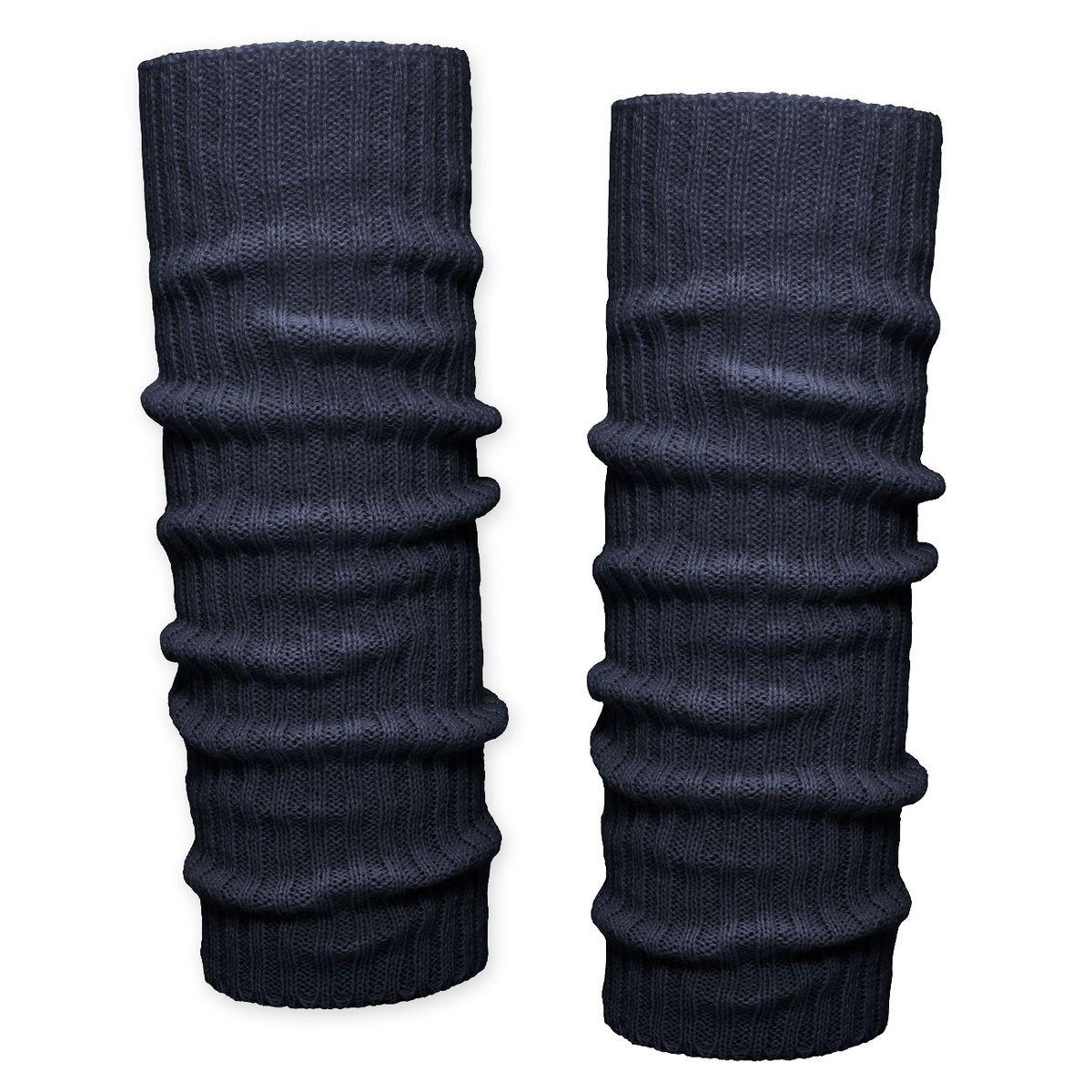 1 Paar Bein Stulpen mit Punkten Beinwärmer gepunktet Grobstrick rot schwarz weiß