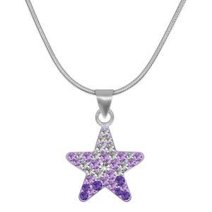 Halskette mit Stern Anhänger aus  925er Sterling Silber – Bild 2