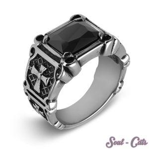 1 Gothik Ring aus Edelstahl – Bild 1