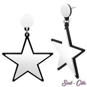 1 Paar Statement Ohrhänger Stern – Bild 1