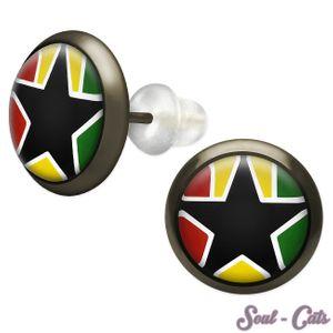 1 Paar Ohrstecker schwarzer Stern