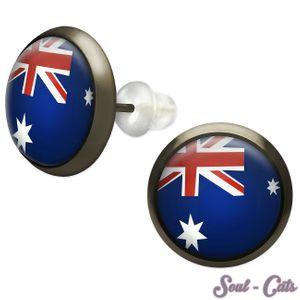 1 Paar Ohrstecker Flagge Australien