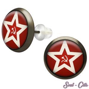 1 Paar Ohrstecker Flagge der sowjetischen Marine