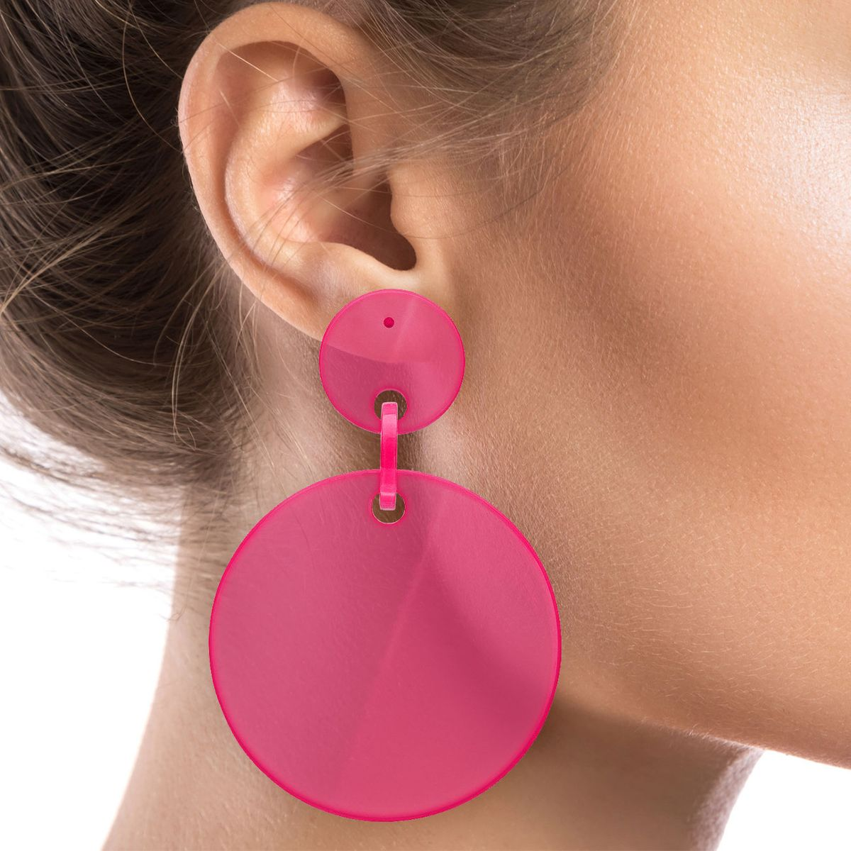 1 Paar Statement Ohrhänger Ohrringe Ohrstecker Creolen Loops Retro 80er Style