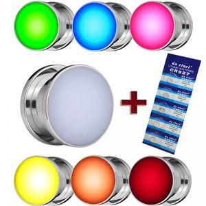 LED flesh Tunnel Plug leuchtend blinkend Edelstahl rot grün blau weiss 8-16 mm – Bild 1