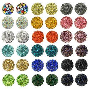 5 Stk. Beads Perlen Glitzer Disko Kugel Bead Kristallkugel Armband basteln – Bild 1