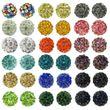 5 Stk. Beads Perlen Glitzer Disko Kugel Bead Kristallkugel Armband basteln 001