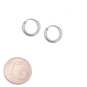 Creolen Creole 925 echt sterling Silber Ohrringe silbern 8 10 12 16 20 25 mm – Bild 3