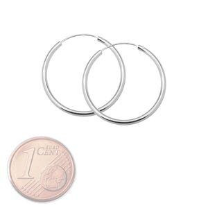 Creolen Creole 925 echt sterling Silber Ohrringe silbern 8 10 12 16 20 25 mm – Bild 6