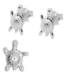 Ohrstecker Ohrringe echt 925 Silber Katze Eule Delphin Blume Gecko Pinguin Käfer – Bild 11