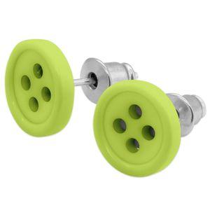 1 Paar Ohrstecker Knopf in verschiedenen Farben – Bild 7