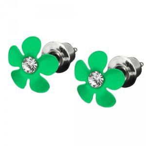 Ohrstecker Ohrringe Blume Blüte Blümchen Straß Kristall Kinder – Bild 3