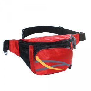 Gürteltasche 3 Fächer Bauchtasche Hüfttasche Angeltasche blau schwarz rot – Bild 3