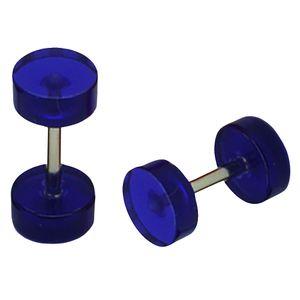 1 Paar Fakeplugs Plug Fake Ohrstecker Ohrringe neon rot schwarz weiß lila orange – Bild 10