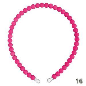 Haarreifen Haarreif Perlen Perle creme rosa neon pink weiß pastell Hochzeit – Bild 17