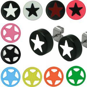 2 Stück Ohrstecker Stern Ohrring Ohrringe Sterne