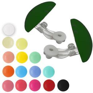 1 Paar Ohrclips in trendigen Farben – Bild 1