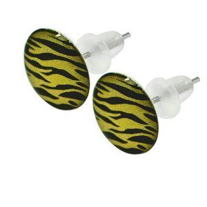 1 Paar Ohrstecker Ohrringe Zebra Leo Muster – Bild 4