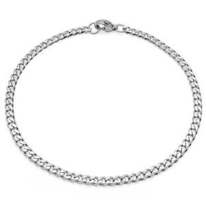 Halskette Herren Edelstahlkette Panzerkette Königskette Armband silber schwarz – Bild 9