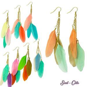 1 Paar Feder Ohrringe – Bild 1