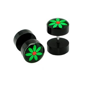 2x10 mm Fakeplugs Fake Plug Tunnel Ohrstecker Ohrringe Fakepiercing – Bild 17