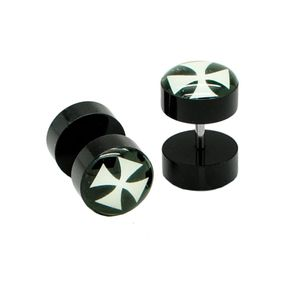 2x10 mm Fakeplugs Fake Plug Tunnel Ohrstecker Ohrringe Fakepiercing – Bild 10