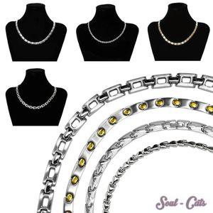 Edelstahl Collier  Kette Ankerkette Halskette Gliederkette silber matt glänzend
