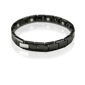 1 edles Design Armband Keramik Ceramic schwarz weiss – Bild 2