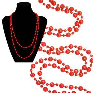 1 trendige Perlenkette Kette in versch. Farben rot petrol schwarz – Bild 2