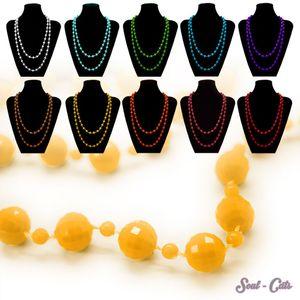1 Gute- Laune- Perlenkette Kette in vielen versch. frischen Farben mint orange gelb koralle rot – Bild 1