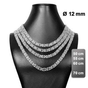 flache Königskette Halskette Panzerkette Herren Edelstahlkette Armband silber – Bild 9