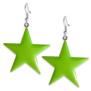 1 Paar süsse Ohrhänger leuchtende Sterne Ohrringe pink gelb blau grün – Bild 4