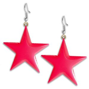 1 Paar süsse Ohrhänger leuchtende Sterne Ohrringe pink gelb blau grün – Bild 5