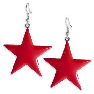 1 Paar süsse Ohrhänger leuchtende Sterne Ohrringe pink gelb blau grün – Bild 6