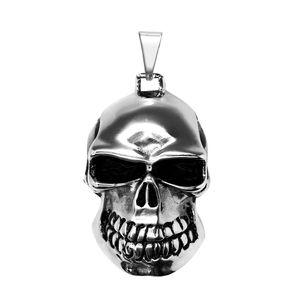 Totenkopf Skull Biker Gothik Edelstahl Anhänger Königskette Kettenanhänger groß – Bild 4