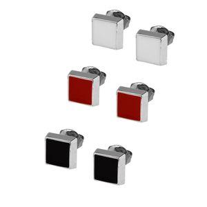 1 Paar trendige Ohrstecker viele Modelle rot weiß schwarz silbern Ohrschmuck – Bild 5