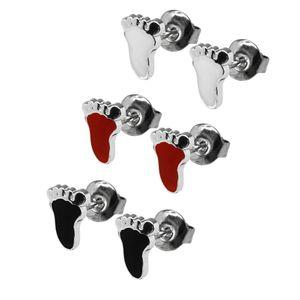 1 Paar trendige Ohrstecker viele Modelle rot weiß schwarz silbern Ohrschmuck – Bild 8