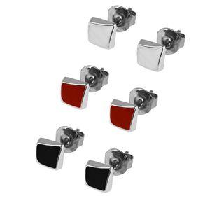 1 Paar trendige Ohrstecker viele Modelle rot weiß schwarz silbern Ohrschmuck – Bild 9