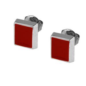 1 Paar trendige Ohrstecker viele Modelle rot weiß schwarz silbern Ohrschmuck – Bild 22
