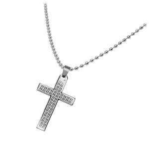 1 Edelstahl Kugelkette mit Kreuz Anhänger – Bild 8