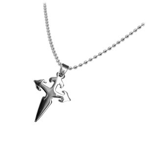 1 Edelstahl Kugelkette mit Kreuz Anhänger – Bild 9