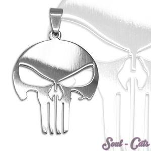 1 cooler Kettenanhänger Totenkopf skull Anhänger silbern Edelstahl