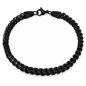 Königskette Halskette Panzerkette Herren Edelstahlkette viereckig Armband silber – Bild 5
