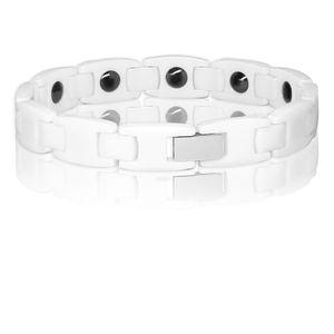 1 Design Armband Keramik schwarz weiß – Bild 5