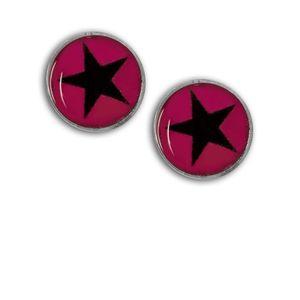 1 Paar Magnet Fake Plug mit Stern Expander pink schwarz rot lila blau Kinder – Bild 4